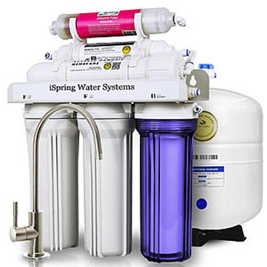 iSpring RCC7AK 6-Stage Reverse Osmosis Drinking Water Filtration System with Alkaline Remineralization